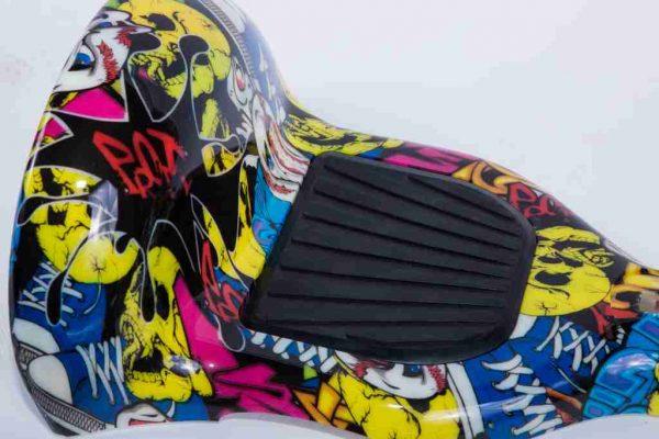Hoverboard 10 palcov kryty grafitti detail na blatník