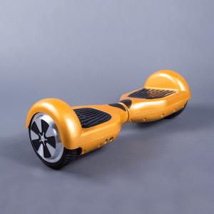 Hoverboard feetboard zlatá chromová bočná strana