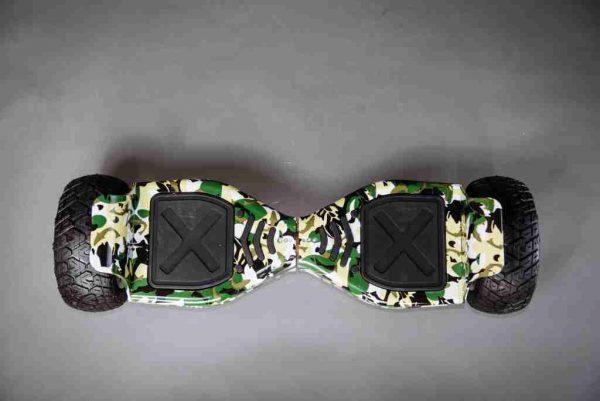 Hoverboard maskáčová vojenská 8,5 vrchná strana
