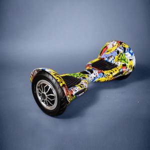 Hoverboard 10 palcové kolieska grafitti bočná strana