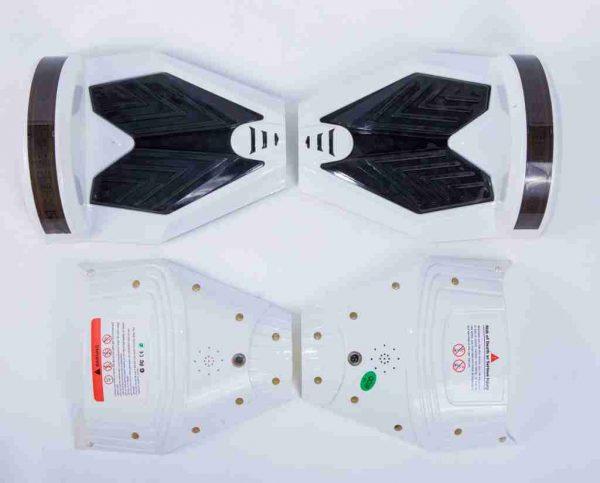 Hoverboard 8 palcov kryty biele