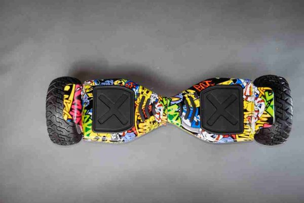 Hoverboard offroad kolonožka grafitti vrchná strana