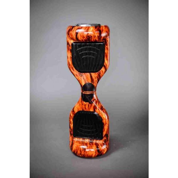 Hoverboard ohňová 6,5 palcová kolonožka fotené na stojato